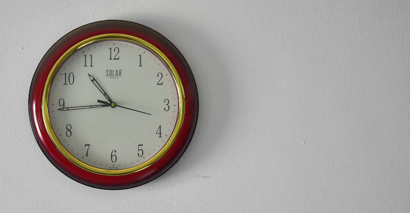 Where should we place the clock according to Vastu