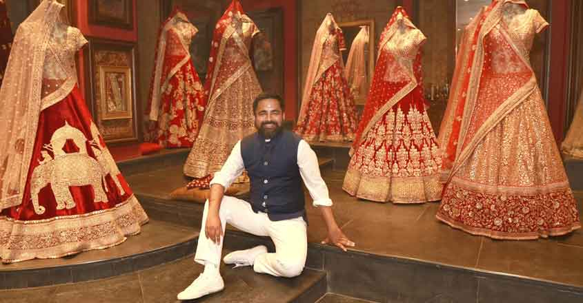 New Delhi: Fashion Designer Sabyasachi Mukherjee at his flagship store in New Delhi, on March 1, 2016. (Photo: Amlan Paliwal/IANS)
