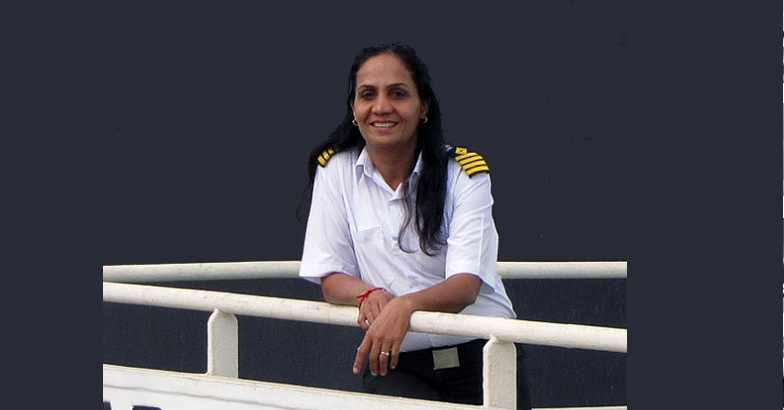 India's first female captain to be honored for bravery at sea