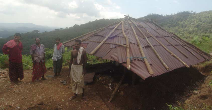 Tribal ( Kurichiyar ) making thear House