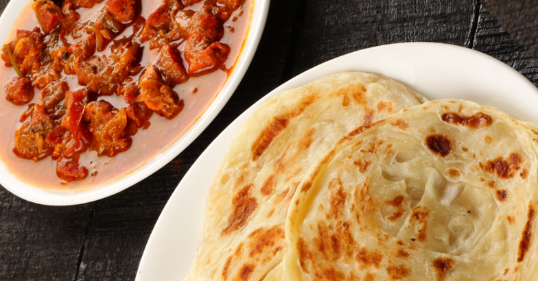 Kerala parotta and meat curry