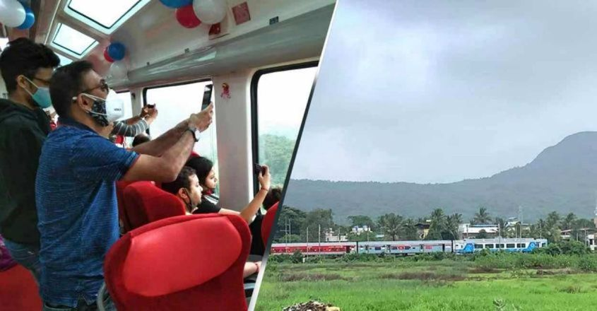 Enjoy the beautiful Western Ghats from the comfort of Vistadome coaches