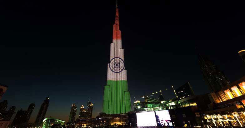 Burj Khalifa gets a tricolor makeover