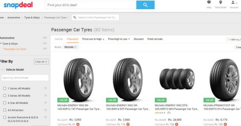 michelin-snapdeal