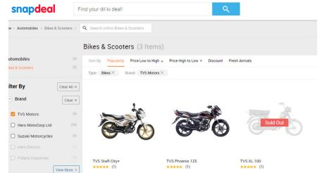 snapdeal-tvs