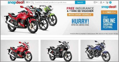 Hero Motocorp sells 1 lakh bikes on Snapdeal
