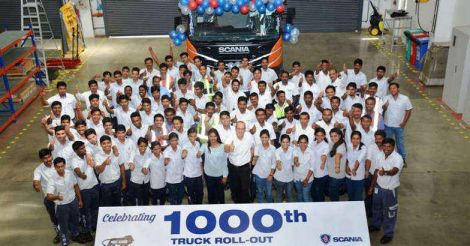 Scania India 1000th truck production