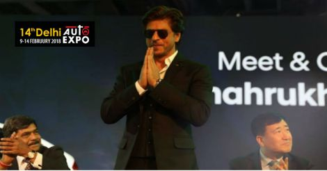 Shah Rukh Khan visited the Hyundai Pavilion.