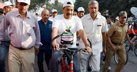 Aravind Kejriwal Cycling