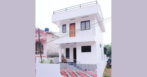 two cent house in kottayam small plot home