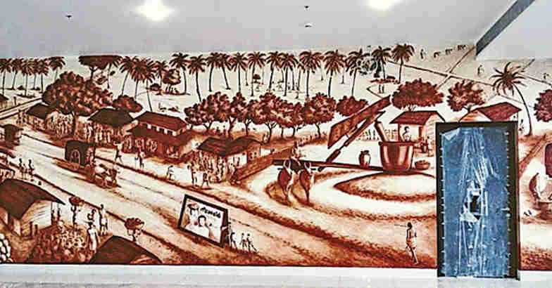 kannur-airport-painting