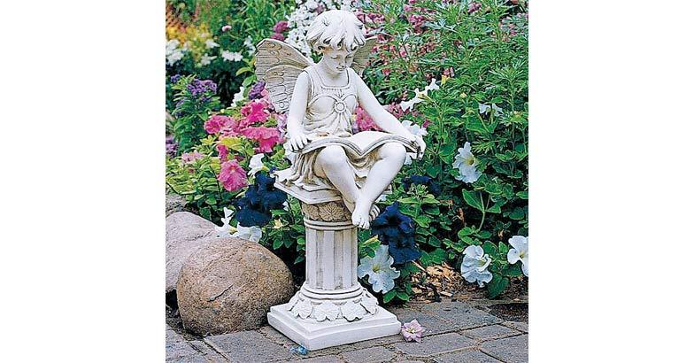 sitting-angel-statue-on-a-Greek-column-angel-statues-for-sale-angel-statues-for-garden