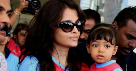 Aishwarya Rai with her daughter Aradhya