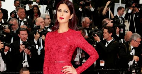 Katrina in Red at Cannes