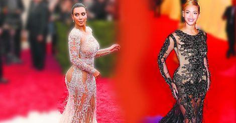 Kim Kardashian and Singer Beyonce