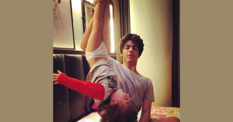 Aryan Khan with Abram Khan