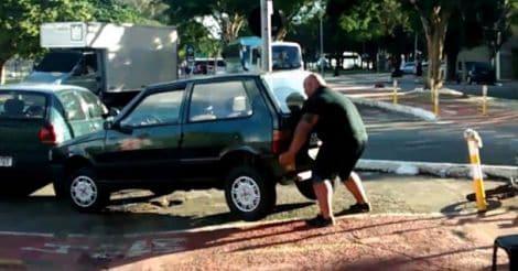 car-liting-man