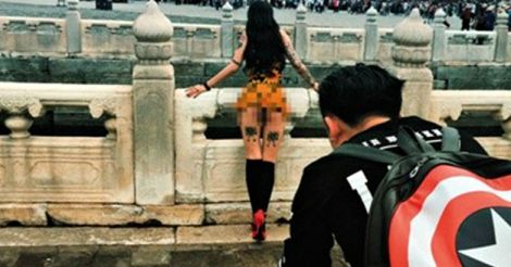 Naked Photoshoot at China's Palace