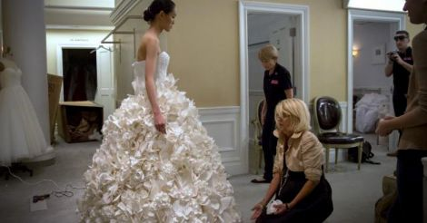 Toilet Paperized Wedding  Dress
