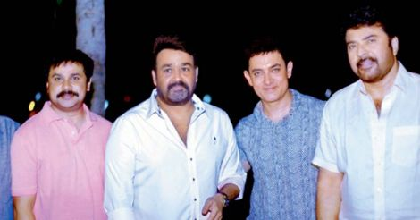 aamir with lal and mamooty