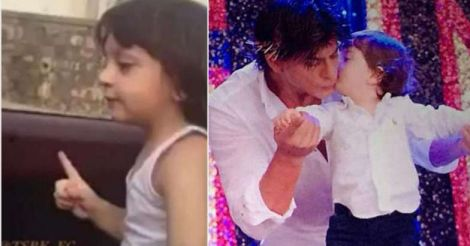 AbRam-dance-on-the-backseat-as-SRK-drives-super-cute