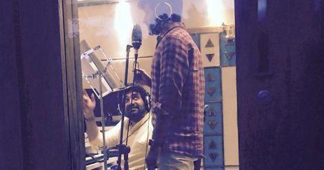 dulquer-at-recording