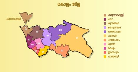 Karunagappally-map