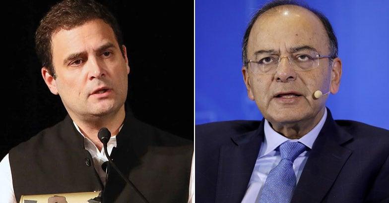 Rahul Gandhi, Arun Jaitley