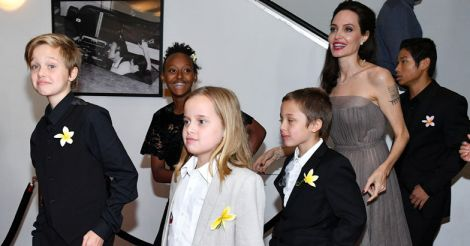 Angelina Jolie with children