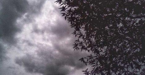 Black cloud before a strom begin
