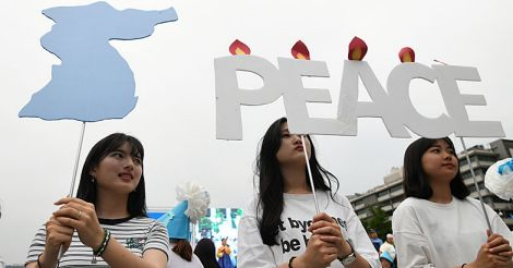 SKOREA-US-NKOREA-PEACE-RALLY