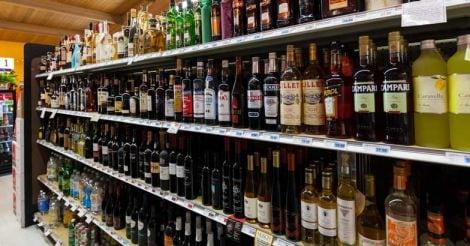 liquor-bottles-rack-representational-image