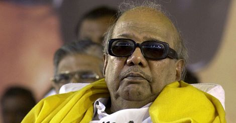 INDIA-POLITICS-DMK-KARUNANIDHI