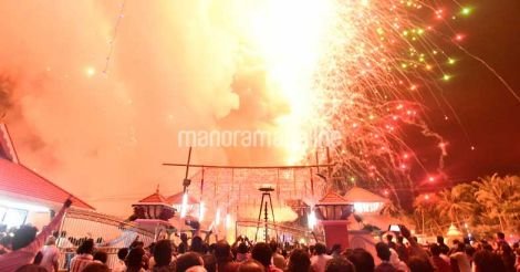Kollam Temple Fireworks