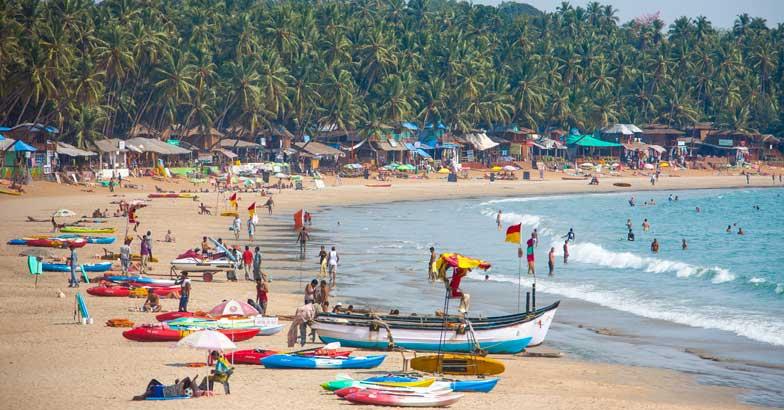 Goa, Panjim, View of Palolem Beach
