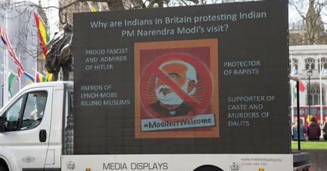 Protest against Modi in London