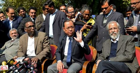 Justices Kurian Joseph, Jasti Chelameswar, Ranjan Gogoi and Madan Lokur