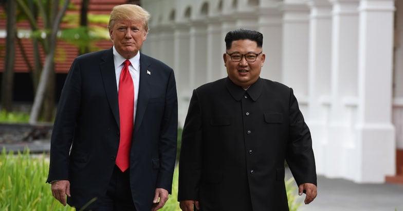 Donald Trum and Kim Jong Un
