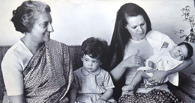 Indira Gandhi, Sonia Gandhi