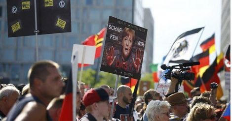 merkel-protest
