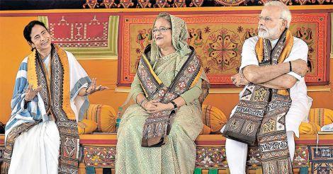 Mamata Banerjee, Sheikh Hasina, Narendra Modi