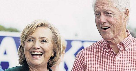 Bill Clinton with Hillary Clinton