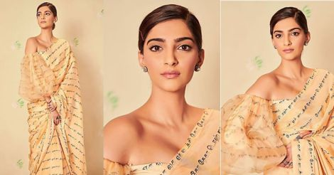 sonam-kapoor-stylish-saree-with-tamil-letters