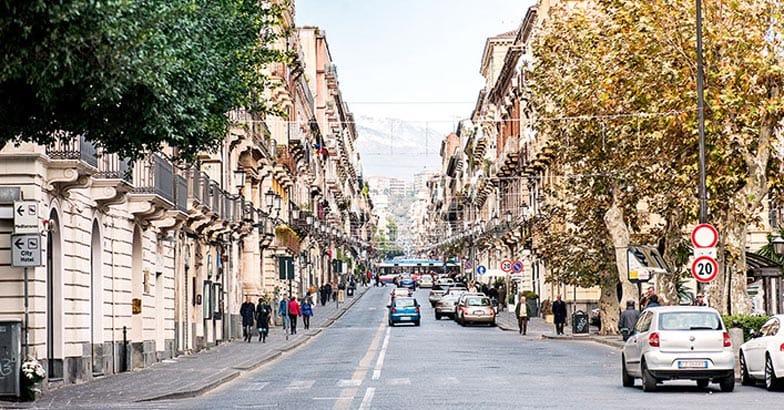 Streetview in Catania