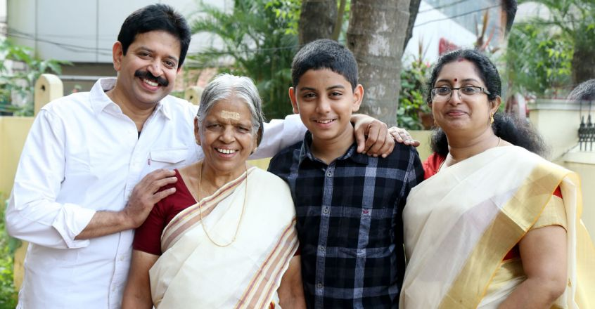 Vismay Muthukad With His Family