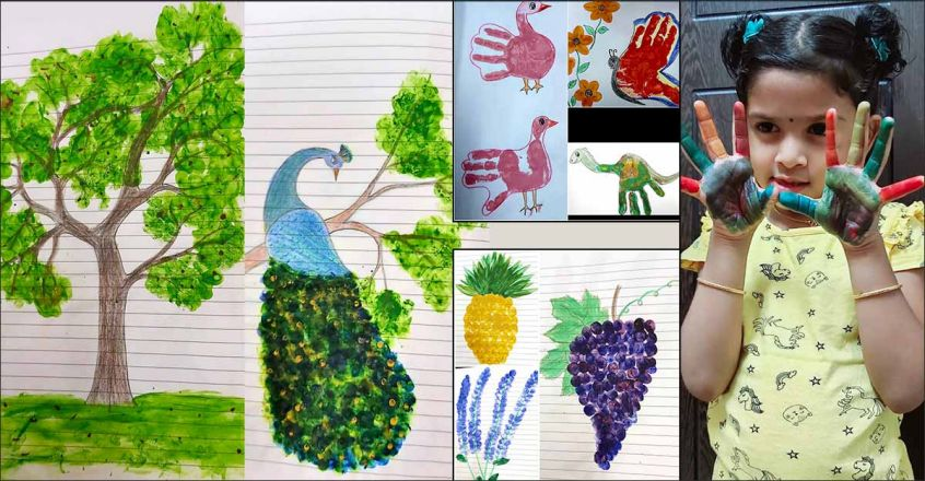 palm-painting-by-little-girl-lekshitha