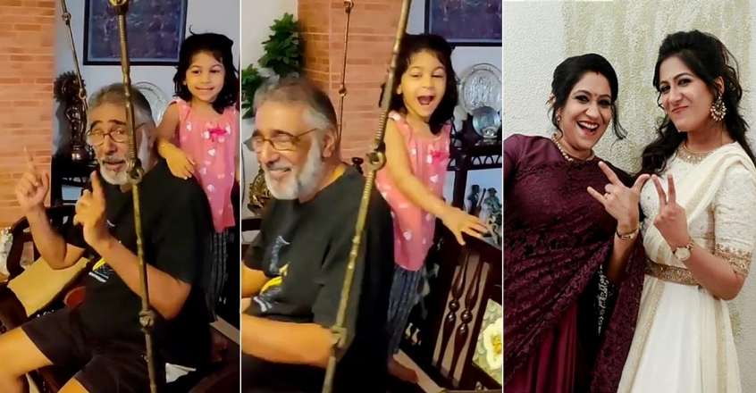 swetha-mohan-post-a-singing-video-of-sreshta