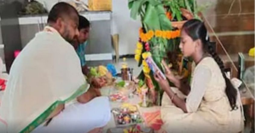 ten-year-old-girl-from-telangana-turns-purohit-to-feed-her-family-after-fathers-covid-death