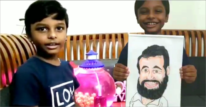 third-standard-student-achilles-draws-caricature-of-minister-v-sivankutty