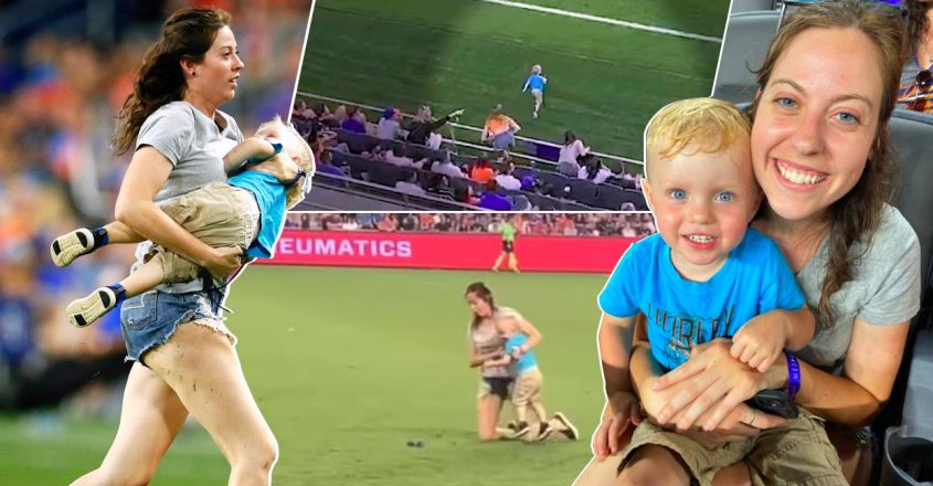 mom-tackles-two-year-old-son-after-he-ran-onto-the-field